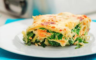Lasagna de salmón y espinaca