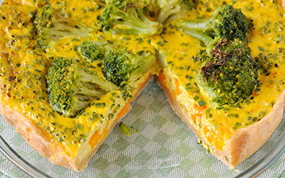 Tarta de brocoli y zanahoria