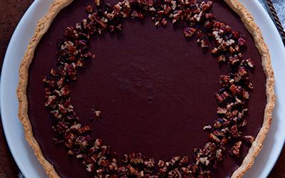 Tarta de caramelo y chocolate