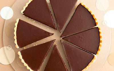 Tarta de chocolate baja en azúcar