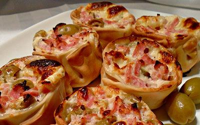 Empanaditas abiertas de oliva