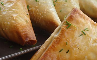 Pañuelitos de jamón y queso