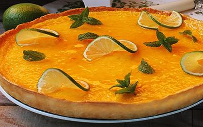 Tarta de lima con mermelada de naranja