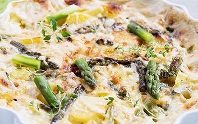 Tarta de verduras y queso magro